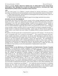 CanadaPRIME Protocol - ICEBeRG - GReBECI