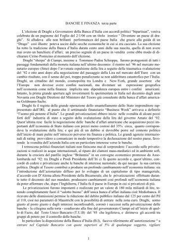 BANCHE E FINANZA terza parte - ripensaremarx