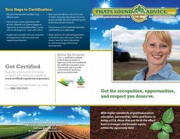 Get Certified - Certified Crop Adviser