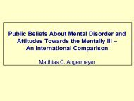 Public Beliefs About Mental Disorder and Attitudes Towards the ...