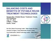 balancing costs and benefits of potable reuse treatment technologies