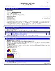 Material Safety Data Sheet - masco.net