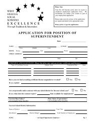 application link - West Geauga Local Schools