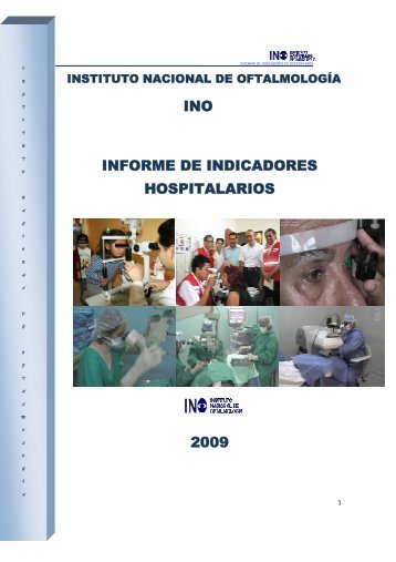 INO INFORME DE INDICADORES HOSPITALARIOS 2009 - Instituto ...