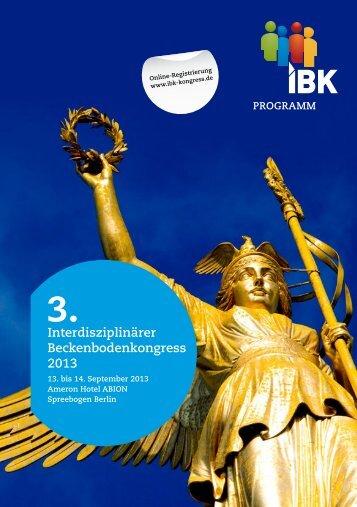 Interdisziplinärer Beckenbodenkongress 2013 - AGUB