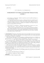 O. P. Gnatiuk, A. A. Kondratyuk SUBHARMONIC FUNCTIONS AND ...