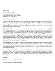 Letter endorsing H.R. 2754 - Emergency Nurses Association