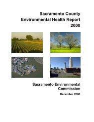 Sacramento County Environmental Health Report 2000