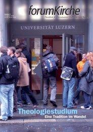 Theologiestudium - forum Kirche