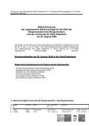 Bekanntmachung der zugelassenen Wahlvorschläge ... - Paderborn