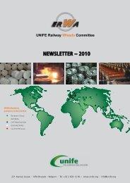 NEWSLETTER – 2010 UNIFE Railway Wheels Committee
