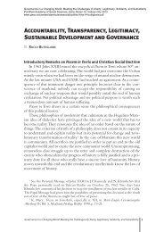 Accountability, Transparency, Legitimacy, Sustainable Development ...