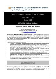 INTB 301 - Introduction to International Business - The American ...