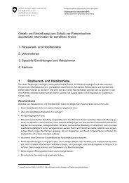 Gesetz und Verordnung zum Schutz vor Passivrauchen: Zusätzliche ...