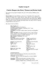 Family Group #1 Charles Hangan (aka Henry Thomas ... - Freepages