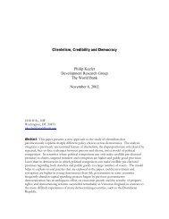 Clientelism, Credibility and Democracy - UCLA International Institute
