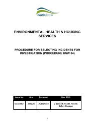 Procedure forselecting incidents investigation - North Devon District ...