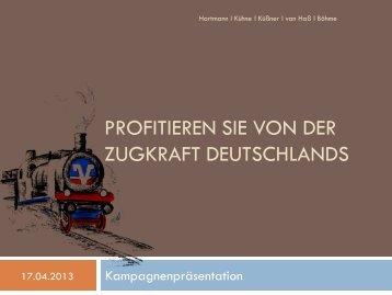 Profitieren Sie von der Zugkraft Deutschlands