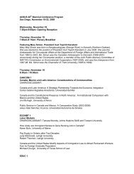 ACSUS 20th Biennial Conference Program San Diego, November ...