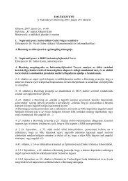 EMLÉKEZTETŐ A Tudományos Bizottság 2007. január 24-i üléséről ...