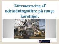 Eftermontering af udstødningsfiltre på tunge køretøjer