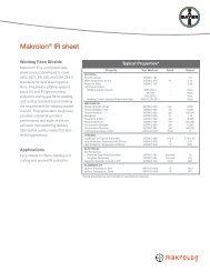 Makrolon® IR sheet - Sheffield Plastics