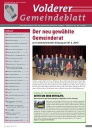 Volderer Gemeindeblatt - Gemeinde Volders - Land Tirol