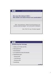 Die neue RAL (Entwurf 2010) – Was ändert sich beim Entwurf ... - VSVI
