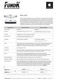 PDF Datenblatt des Mac mini - FundK