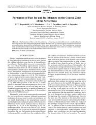 Formation of Fast Ice and Its Influence on the Coastal Zone of the ...