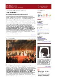 Nieuwsbrief De Hofvijver, 29 april 2013 - Montesquieu Instituut