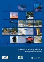 Overview of Municipal Service Delivery Mechanisms - National ...