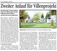 Zeitungsartikel zum Fehlmann-Areal, Landbote - Winterthur