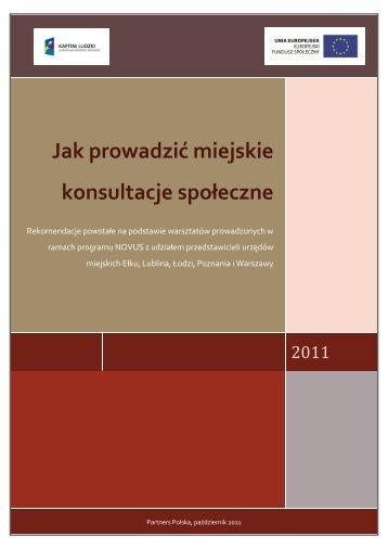 rekomendacje dotyczące przeprowadzania ... - NGO - Warszawa