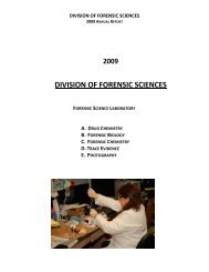 division of forensic sciences - Westchester County Government