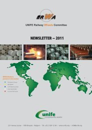 NEWSLETTER – 2011 UNIFE Railway Wheels Committee