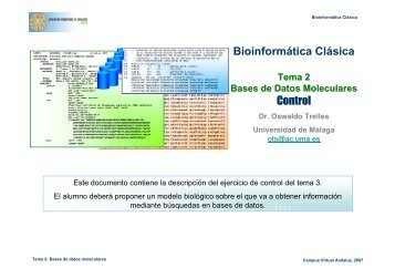 Bioinformática Clásica Control - BioScripts
