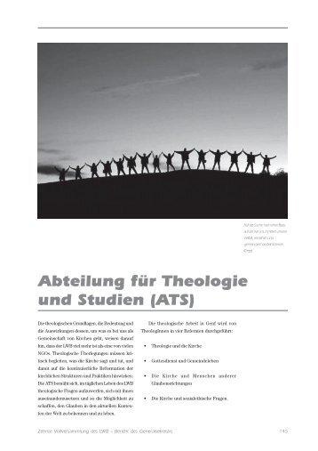 Abteilung für Theologie und Studien (ATS) - LWF Tenth Assembly ...