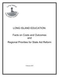 Facts on Costs and Outcomes and Regional Priorities for State Aid ...