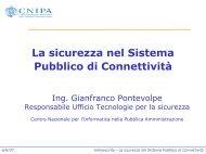 La sicurezza nel Sistema Pubblico di Connettività - Clusit