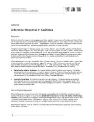 Differential Response in California - California Health and Human ...