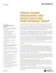 SERENA Template - Data Sheet - Serena Software