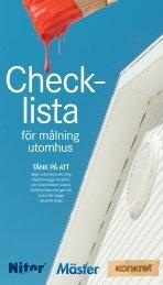 Checklista utomhusmålning