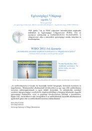 Egészségügyi Világnap WHO 2011 évi üzenete