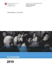 BFM Asylstatistik 2010 - Bundesamt für Migration - admin.ch