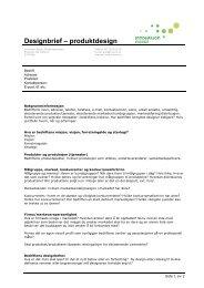 Designbrief produktdesign - Norsk Designråd