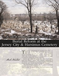 Burial Reform at the Jersey City & Harsimus Cemetery