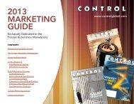 Contol Magazine 2013 Marketing Guide - Putman Media