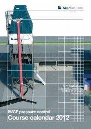 Course calendar 2012 - Aker Solutions
