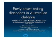 Early onset eating disorders in Australian children - Tour Hosts Pty ...